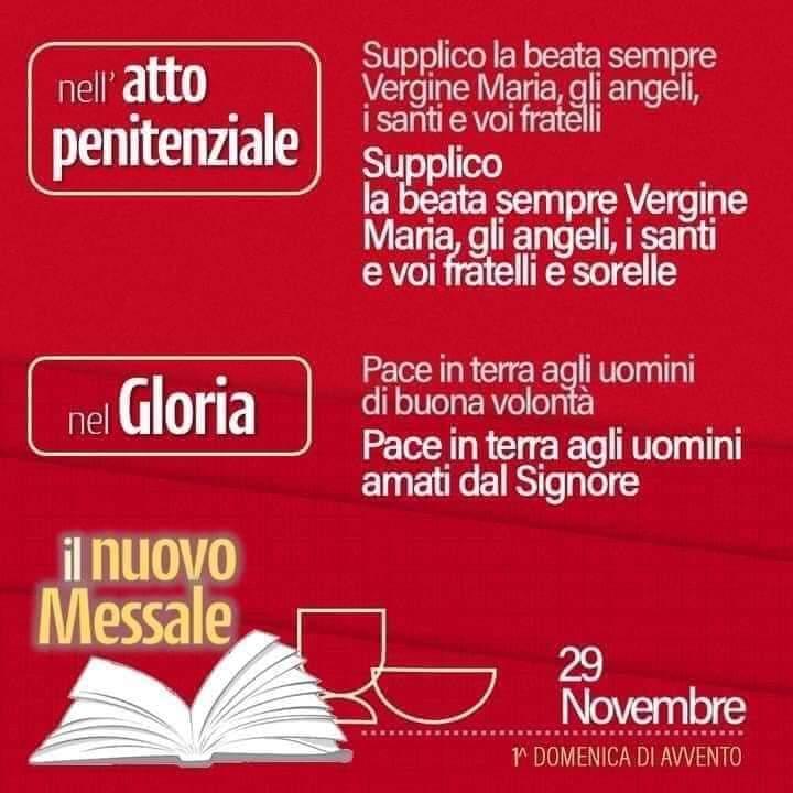 Nuova Traduzione del messale Romano